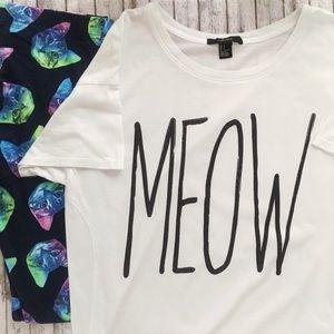 F21 MEOW T-shirt